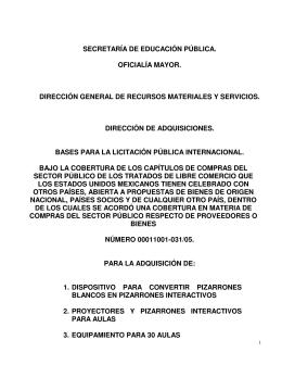 Descargar PDF - CompraSEP - Secretaría de Educación Pública