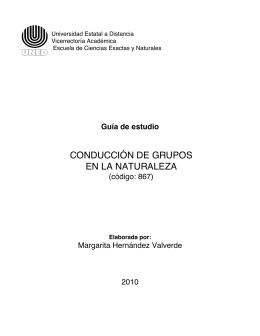 CONDUCCIÓN DE GRUPOS EN LA NATURALEZA
