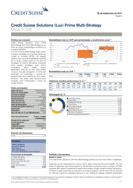 Credit Suisse Solutions (Lux) Prima Multi-Strategy