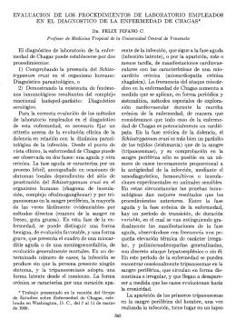 EVALUACION DE LOS PROCEDIMIENTOS DE LABORATORIO