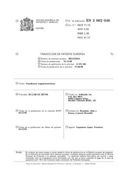 TRANSDUCTOR MAGNETOESTRICTIVO.(ES2062046)