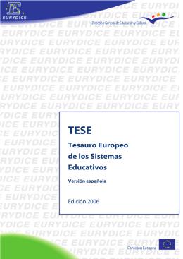 TESE - Tesauro Europeo de los Sistemas Educativos