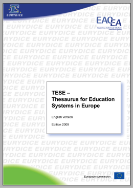 TESE - Thesaurus for Education Systems in Europe