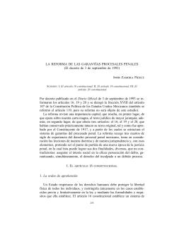 La reforma de las garantías procesales penales