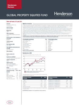 GLOBAL PROPERTY EQUITIES FUND