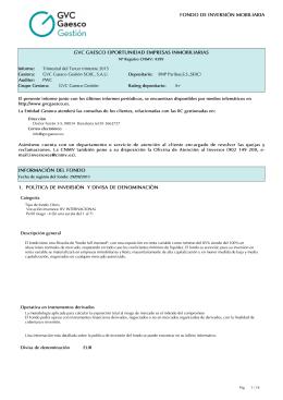Trimestre 03/2014 - GVC Gaesco Gestión