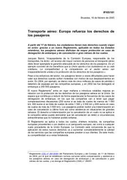 Transporte aéreo: Europa refuerza los derechos de los pasajeros