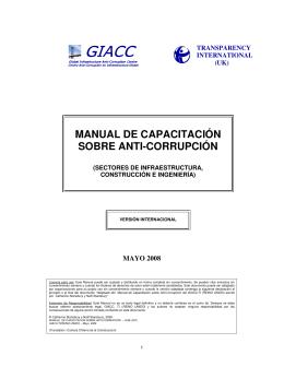 manual de capacitación sobre anti-corrupción