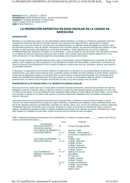 Ponencia - II Congreso de Deporte en Edad Escolar