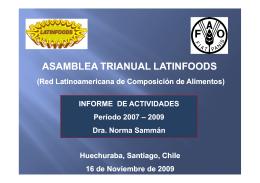 Informe Presidencia de LATINFOODS