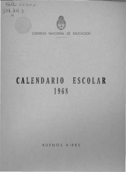 Calendario escolar: 1968