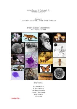 Escribir en Biología - Instituto Superior de Profesorado Nº 4