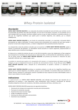 Whey Protein Isolated Descripción