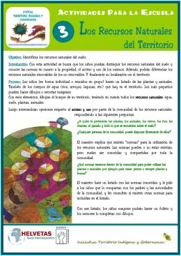 Actividad Nº 3. Los recursos naturales del territorio