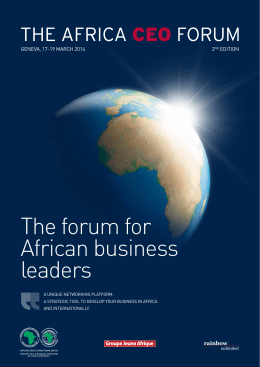 The forum for African business leaders