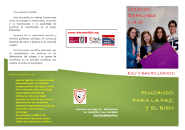 EDUCANDO PARA LA PAZ Y EL BIEN