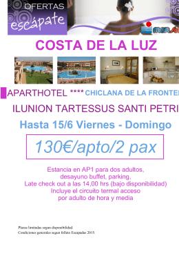 130€/apto/2 pax