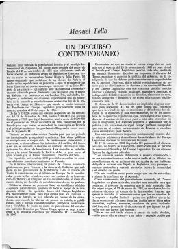 Manuel Tello UN DISCURSO CONTEMPORANEO