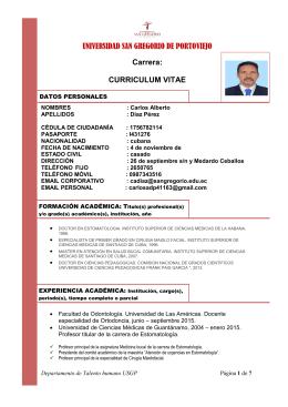 Dr. Carlos Alberto Díaz Pérez - Odontología