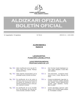 aldizkari ofiziala boletín oficial - Eusko Legebiltzarra