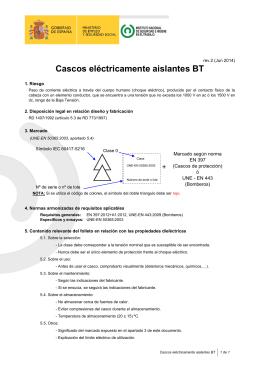 Cascos eléctricamente aislantes BT (pdf ,112 Kbytes)