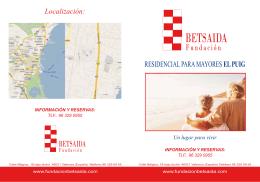 Díptico informativo - Fundacion Betsaida
