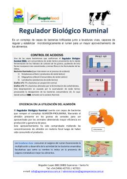 Regulador Biológico Ruminal