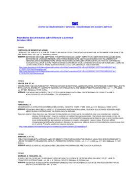 Infancia y juventud.rtf - SiiS Centro de documentación y estudios