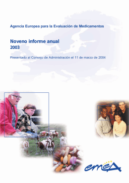 ES Ninth Annual Report 2003 - European Medicines Agency