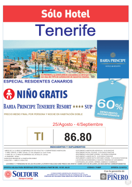 zj107cx BP Tenerife Resort 60% 25ago - 4sep.FH9