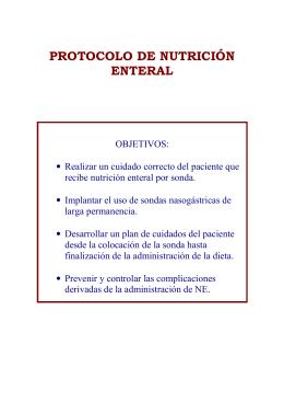 PROTOCOLO DE NUTRICIÓN ENTERAL
