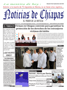 EL TIMBRAZO - Noticias de Chiapas