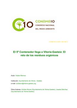El 5º Contenedor llega a Vitoria-Gasteiz: El reto de los residuos