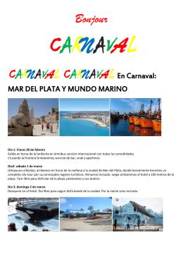 Bonjour CARNAVAL CARNAVAL CARNAVAL