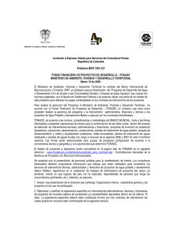 Invitación a Expresar Interés para Servicios de Consultoría