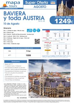 15-07-14 Baviera y toda Austria - Agosto