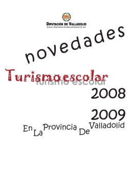 Novedades Turismo Escolar 2008