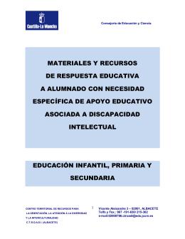 MATERIALES Y RECURSOS - Facultad de Ciencias de la Educación
