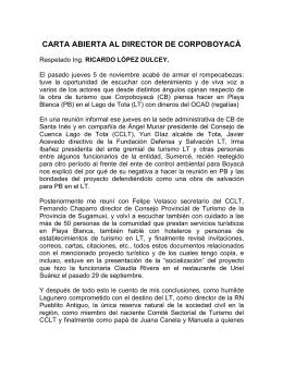 Carta Abierta a Corpoboyacá - Consejo de Cuenca Lago de Tota