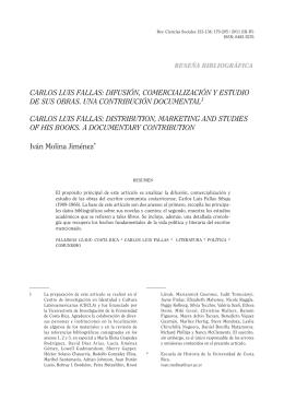 carlos luis fallas - Revista de Ciencias Sociales