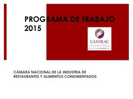 PROGRAMA DE TRABAJO 2014