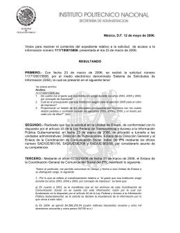resolución a la solicitud 1117100015806