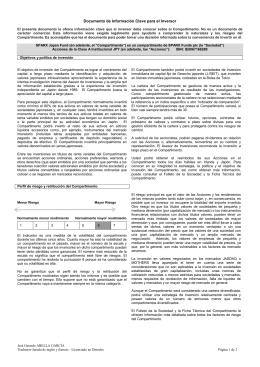 Documento de Información Clave para el Inversor