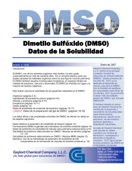 Dimetilo Sulfóxido (DMSO) Datos de la