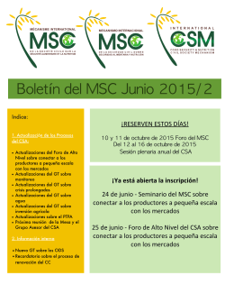 Boletin del MSC Junio 2015:2