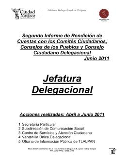 Se adjunta archivo - Delegación Tlalpan