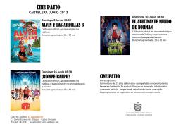 Cine-Patio Junio 2013