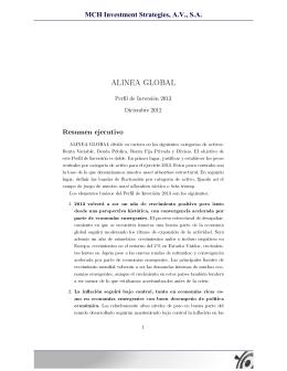 ALINEA GLOBAL Resumen ejecutivo