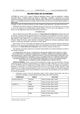SECRETARIA DE ECONOMIA - Diario-o