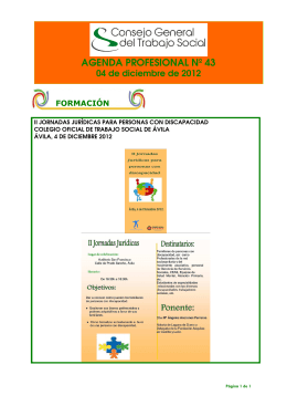 AGENDA PROFESIONAL Nº 43 - Colegio Oficial de Trabajo Social
